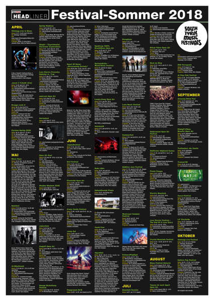 Festival-Sommer 2018