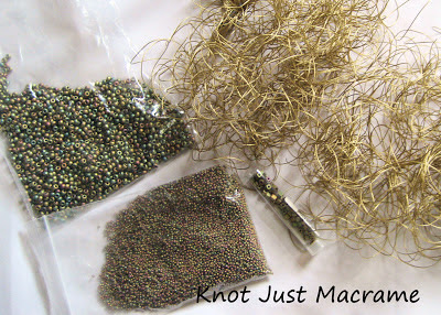 Seed beads and bead cord