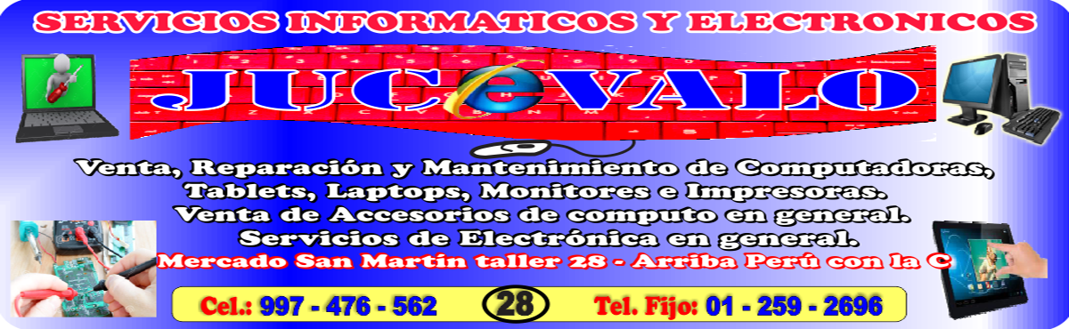 """SERVICIOS INFORMÁTICOS Y ELECTRÓNICOS """"JUCEVALO"""""""