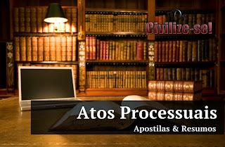 atos processuais resumo cpc pdf