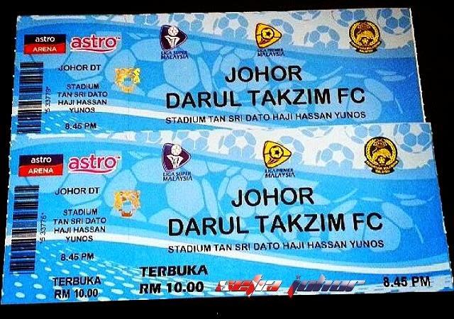 Tiket Piala Sumbangsih 2015 JDT Vs Pahang