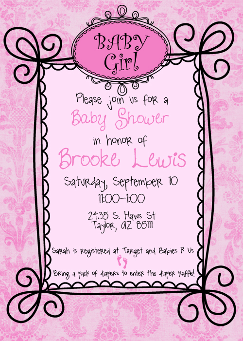 baby shower invitations sample