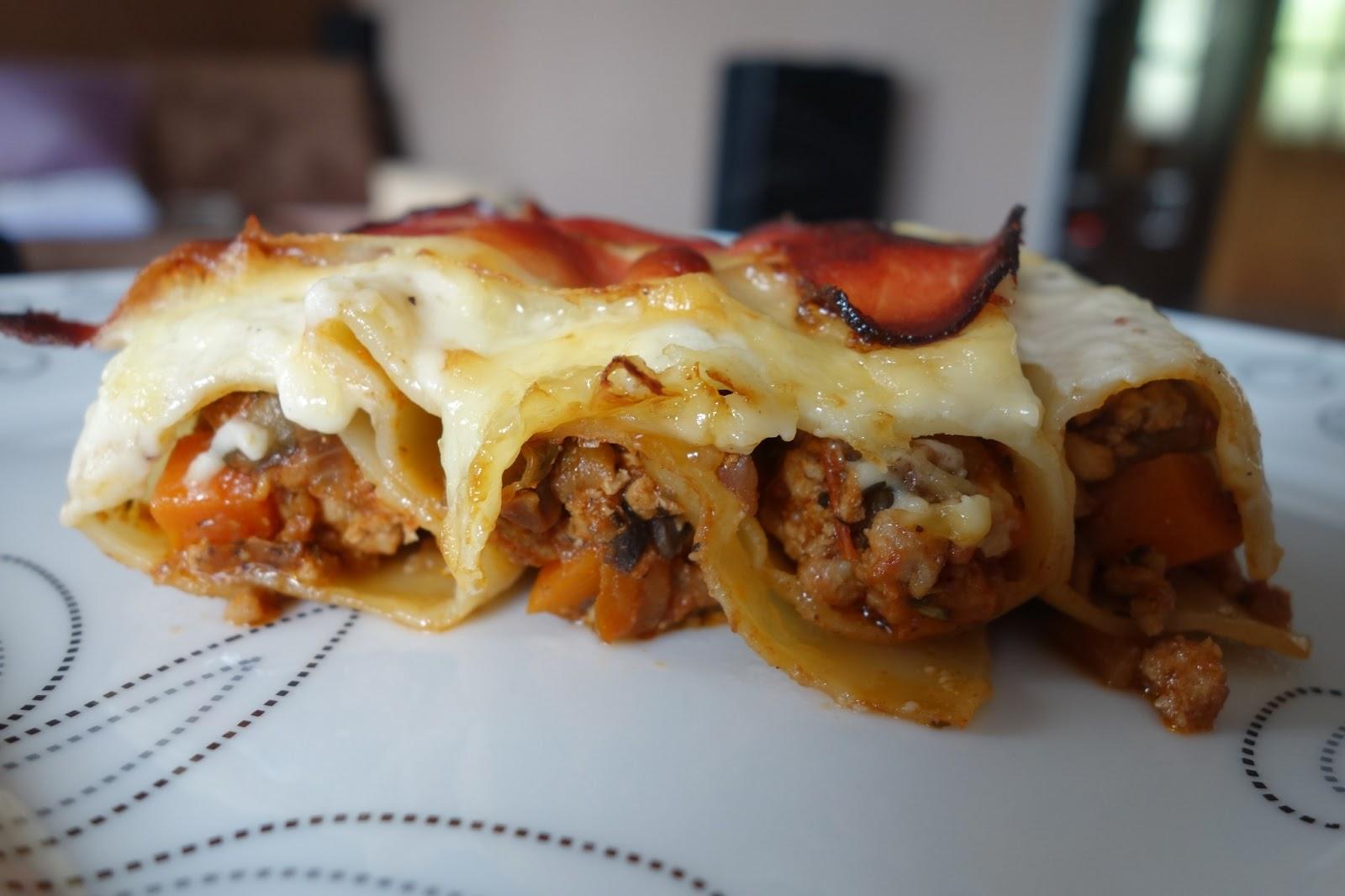 Mania Gotowania Cannelloni Z Miesem Mielonym Baklazanem I Szynka
