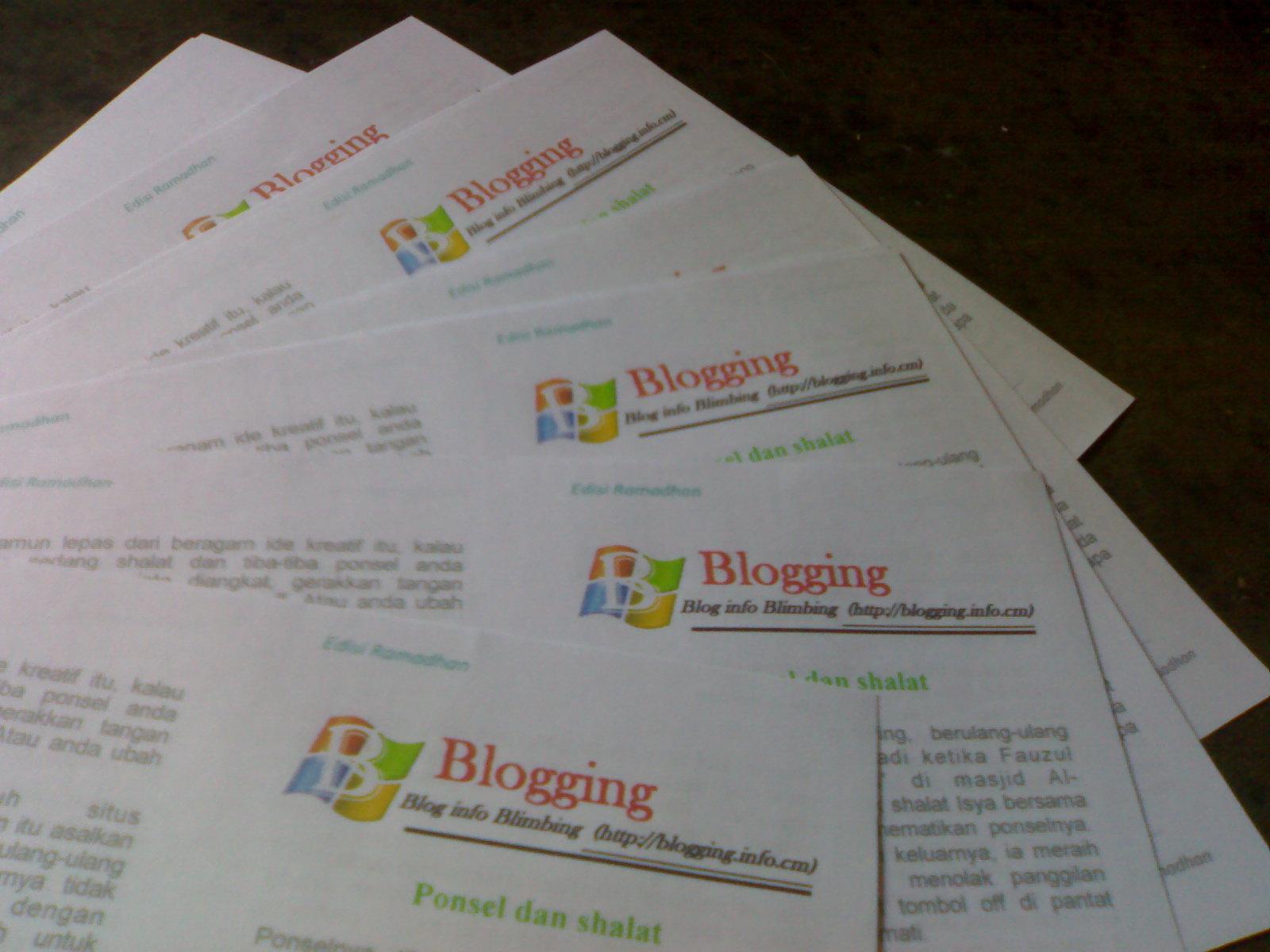 Blogging bulletin Blimbing