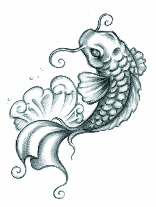 Pinkbizarre koi fish tattoo designs for girls for Koi fish tattoo designs