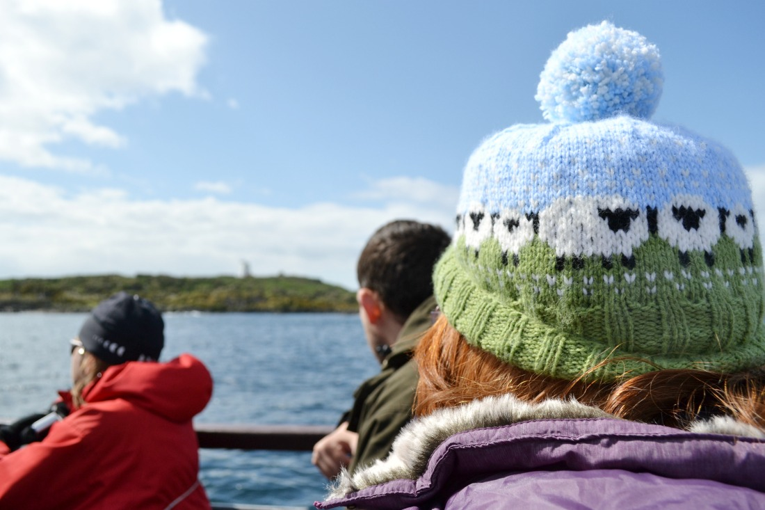 sheep hat shetland wool week isle of may boat