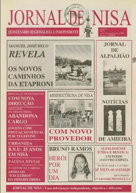CAPAS DO JORNAL DE NISA