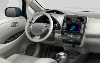 2011 Nissan Leaf electric car interior