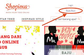 Buat Akun Penjual Online di Shopious Com