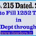 G.O N.o 215 AP- Permission to Fill 1252 Teacher Posts in Municipal Dept through DSC 2014
