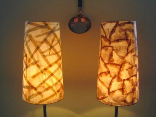 artesanato com filtro de papel luminárias
