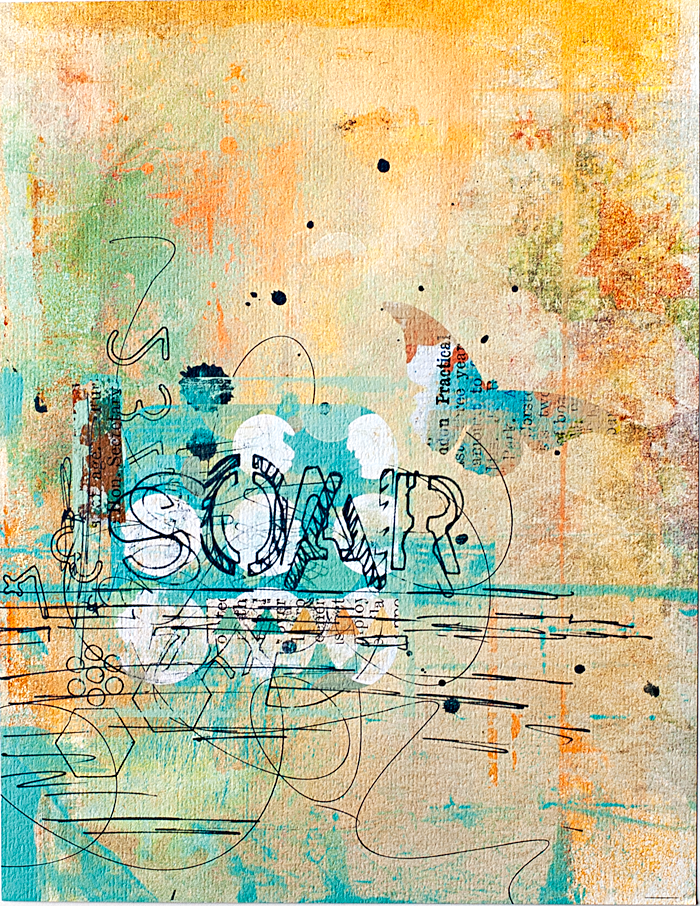 Heather Greenwood | Art Journal page: Soar | digital product by Captivated Visions