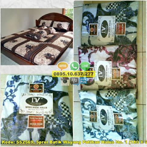 Sprei Batik Wayang Putihan Halus No. 1 (180 X 200