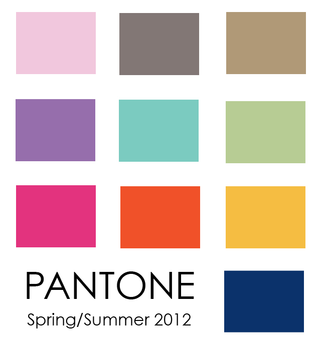 pantone spring 2012 fashion color trends