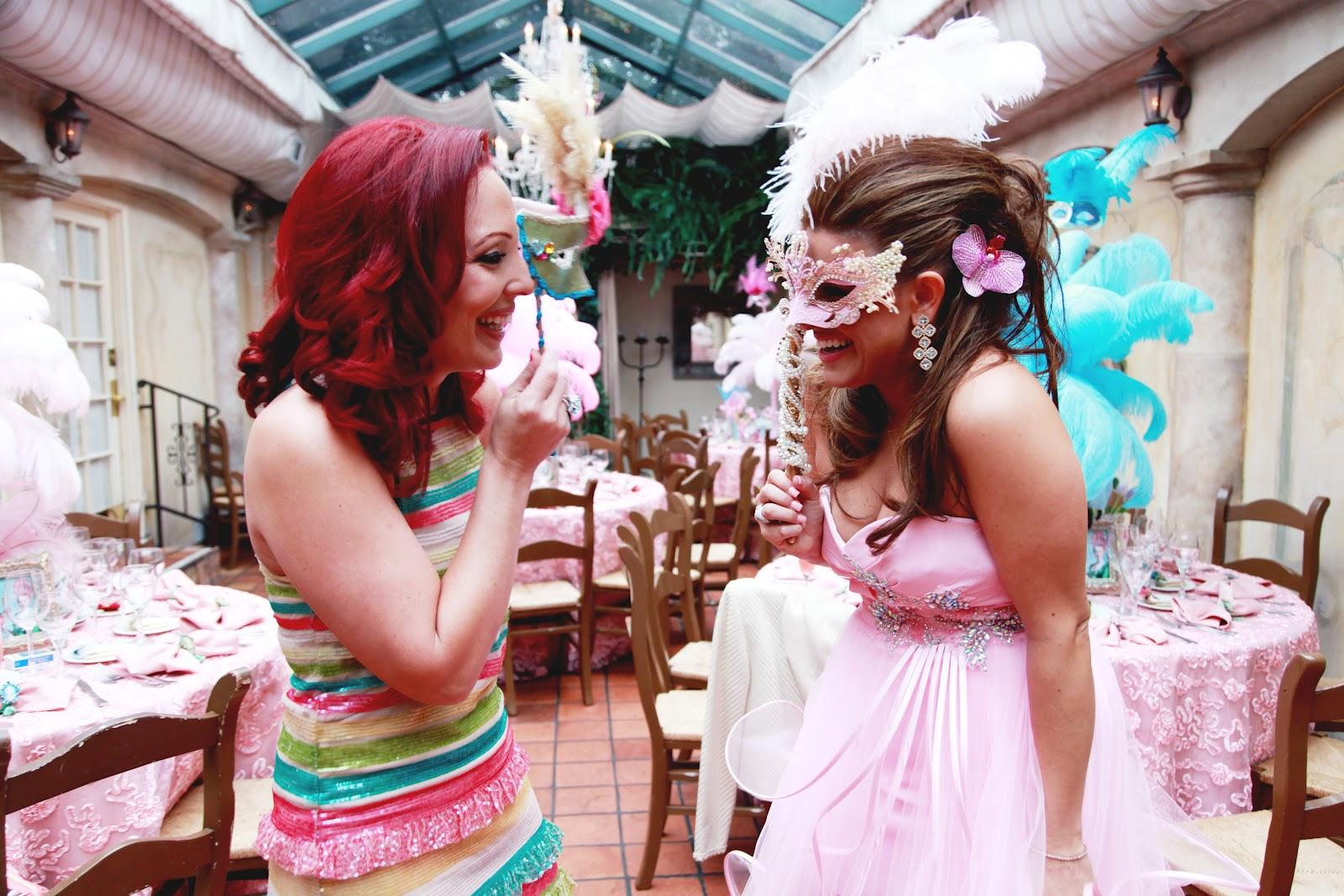 a masquerade bridal shower