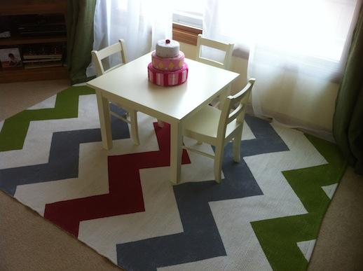 DIY: Painted Ikea Erslev Rug