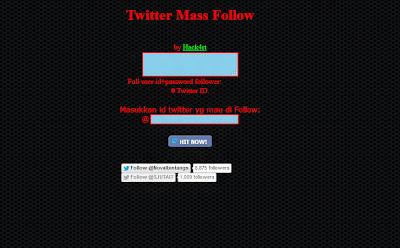 Twitter MassFollow