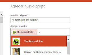 crear grupos de contactos Outlook
