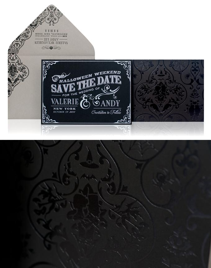 Halloween Wedding Invitations Taking custom design to a whole new – Halloween Wedding Save the Dates
