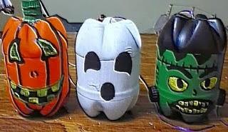 Idées pour Recycler le Plastique pour Halloween, Partie I
