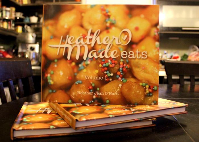 heatheromade eats. cookbook. blurb.