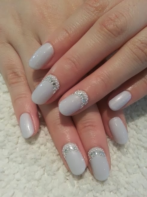 Acrylic extension for length, long rounded nails and LED polish ...