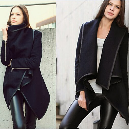 New Lady Womens Windbreaker Long Coat Jacket Long Outerwear