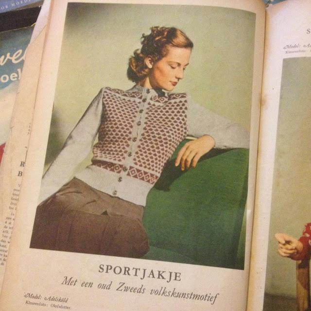 1940s swedish cardigan