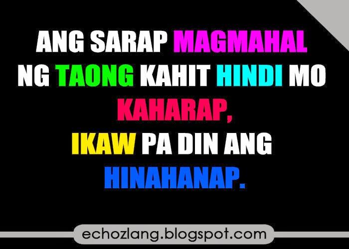 Ang sarap magmahal ng taong kahit hindi mo kaharap ikaw parin ang hinahanap
