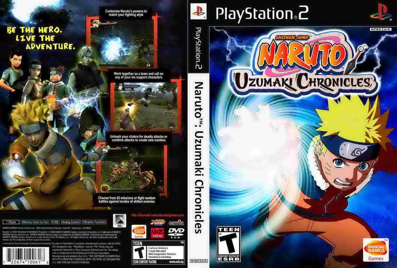 Capa Naruto: Uzumaki Chronicles 2 PS2