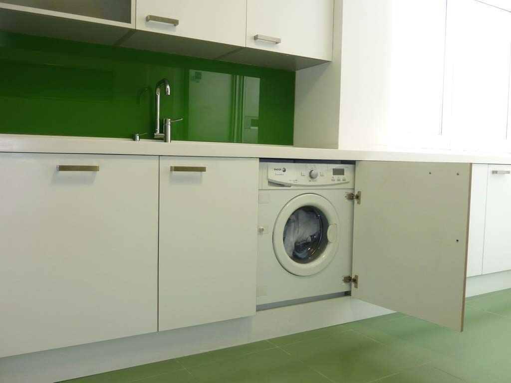 cuando la lavadora est en la cocina