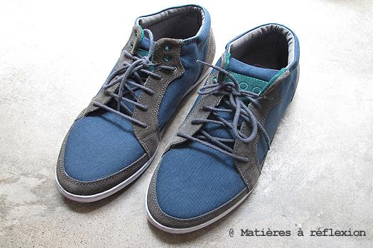 Sneakers Piola toile bleu gris