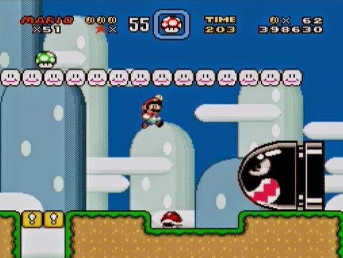 Game Super Mario World (Super Nintendo)