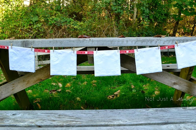 pumpkin patch tailgating party napkin garland