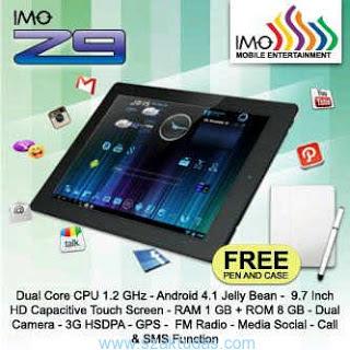 Spesifikasi dan Harga Tablet IMO Z9 Update Terbaru 2013