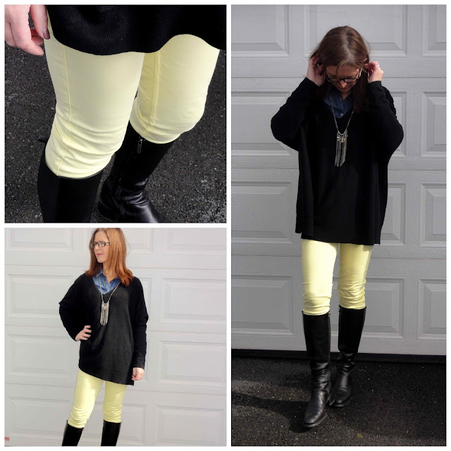 BWD7+Collage Yellow Jeans from Black White Denim   6 Different Ways