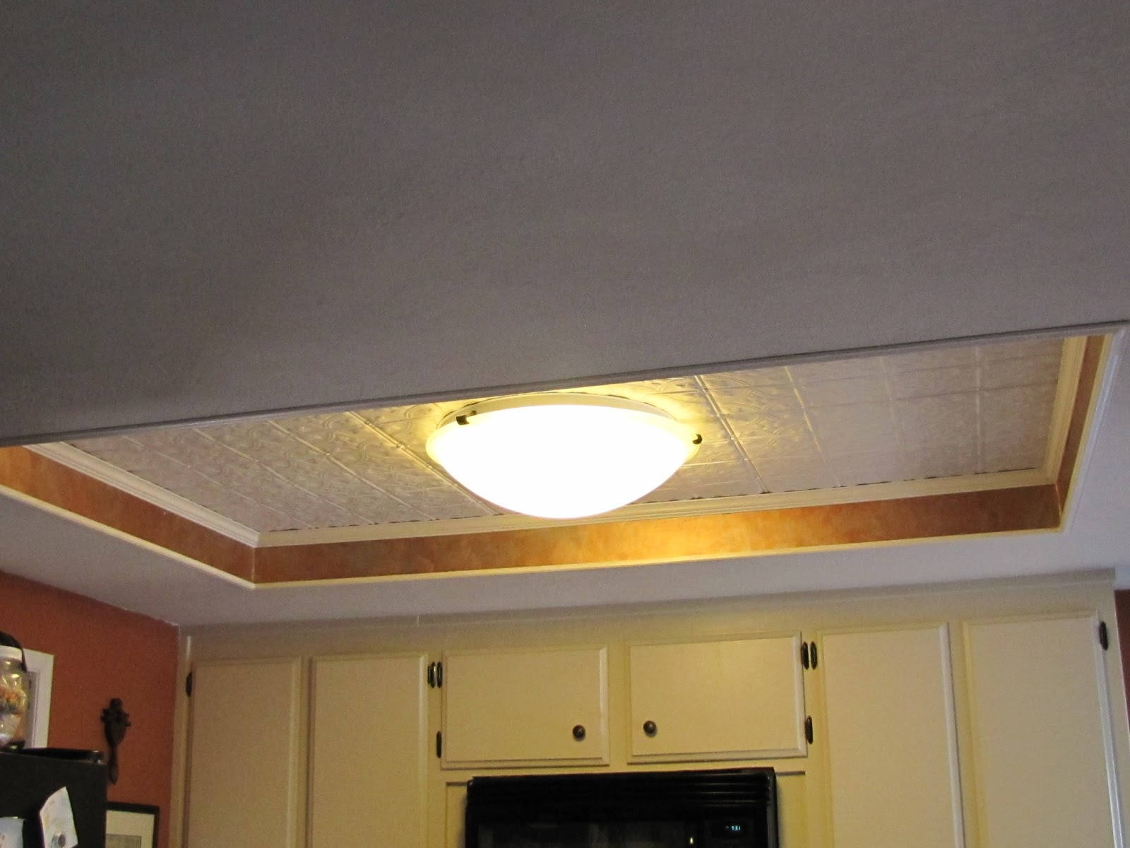 Kitchen Light Box Makeover Redo