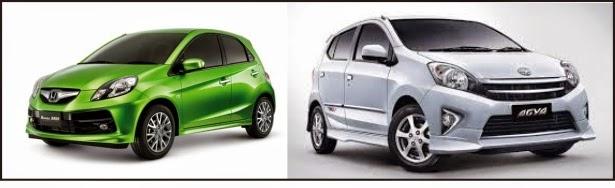 Honda Brio Satya VS Toyota Agya