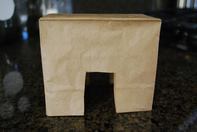 making a paper bag donkey