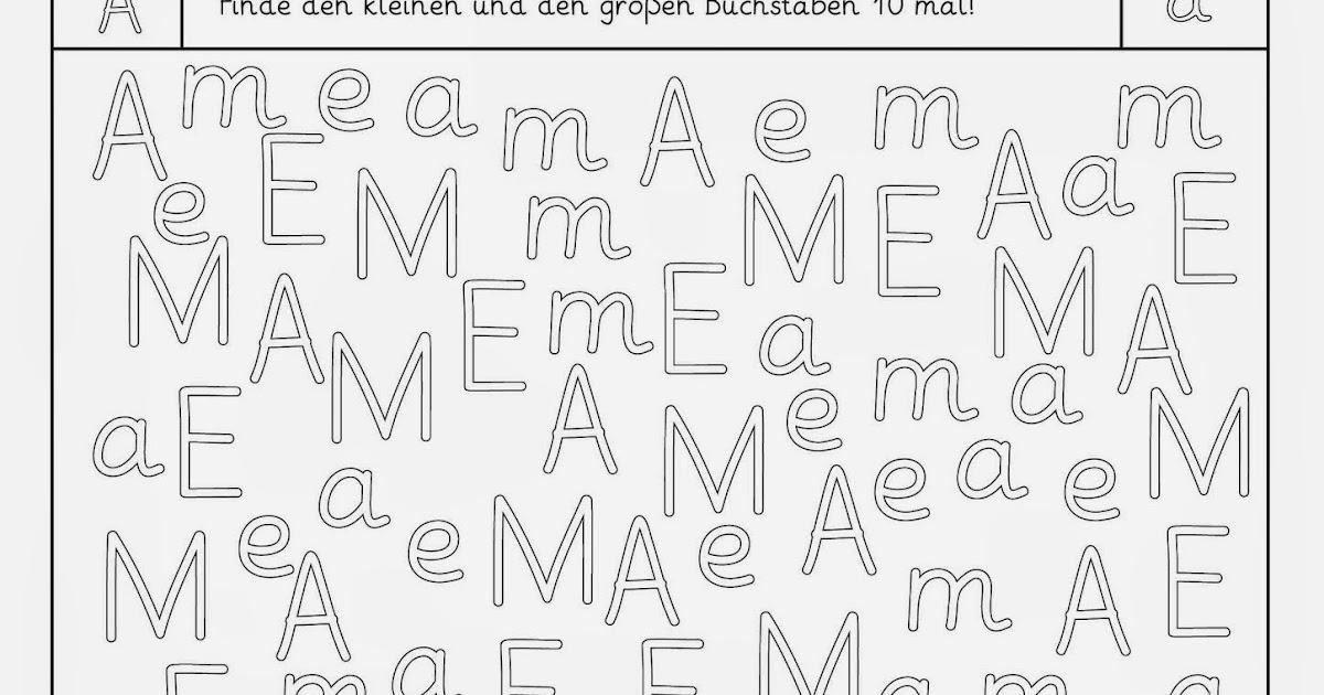 Arbeitsblatt Buchstabe M: Buchstaben schreiben lernen zum ausmalen ...