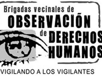 Logotipo de las Brigadas Vecinales de Observación de los Derechos Humanos.Brigadas vecinales
