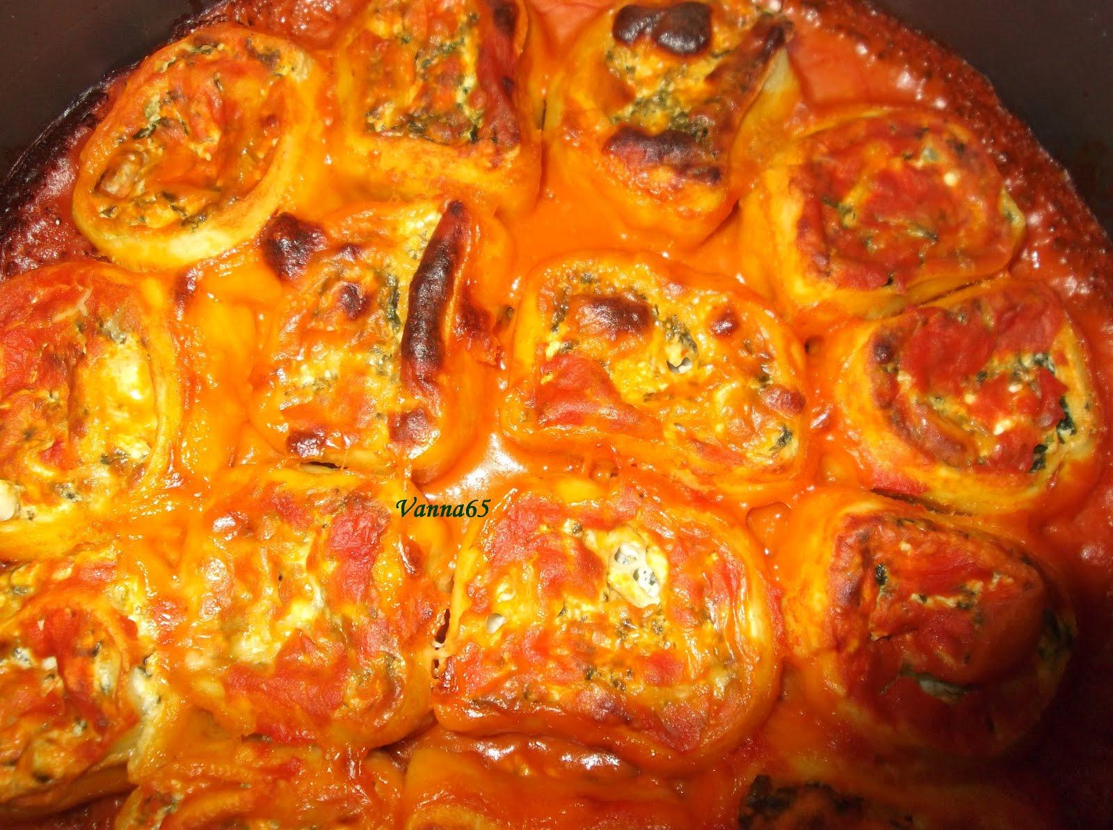 In cucina con vanna girelle di ricotta e spinaci al forno - Cucina con misya ...