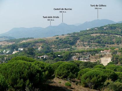 Panoràmica del Castell de Burriac des de la zona dels Vidals