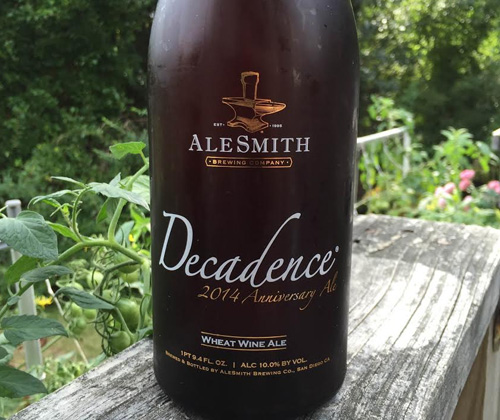 AleSmith Decadence 2014 Anniversary Ale - Wheat Wine Ale