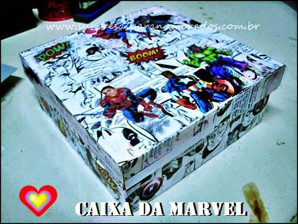 caixa da marvel