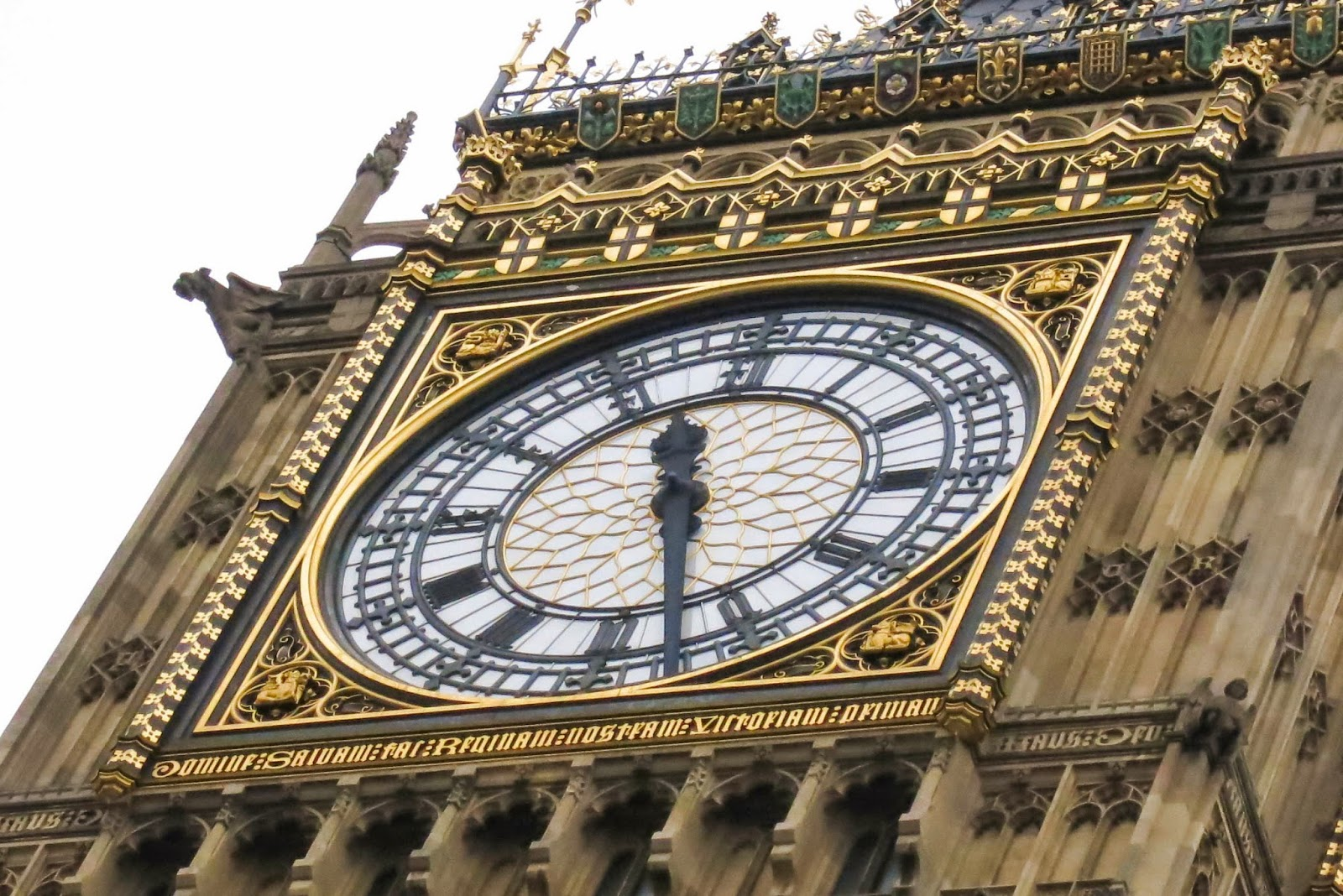 Close-up on the Big Ben's Clock