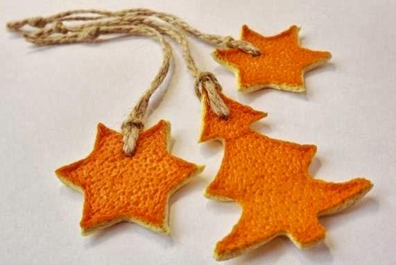 Manualidades estrellas con cascaras de fruta cositasconmesh
