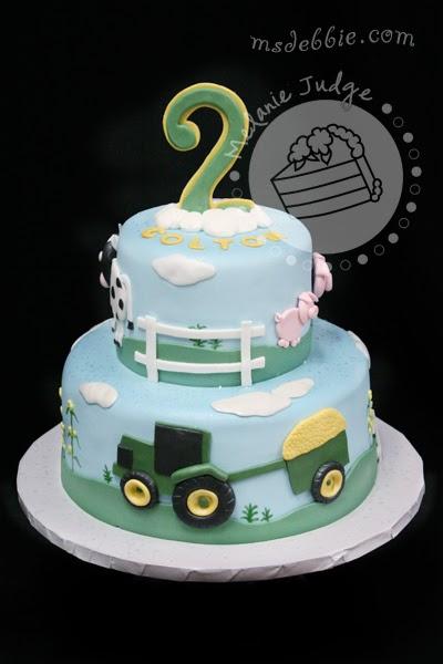 Farm Animal Themed Birthday Cakes