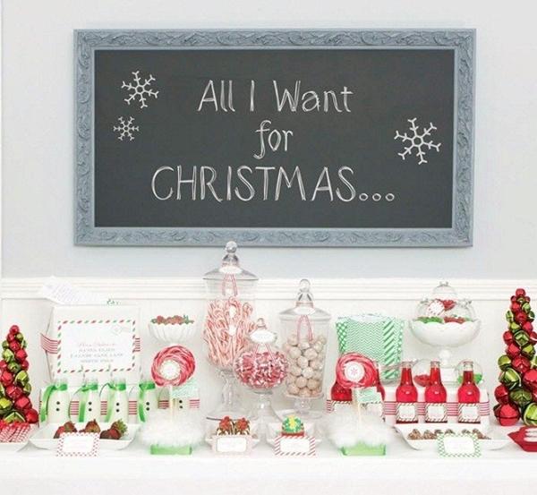 mesa de sobremesa para o natal