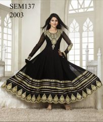 Embroidered Anarkali suit online price